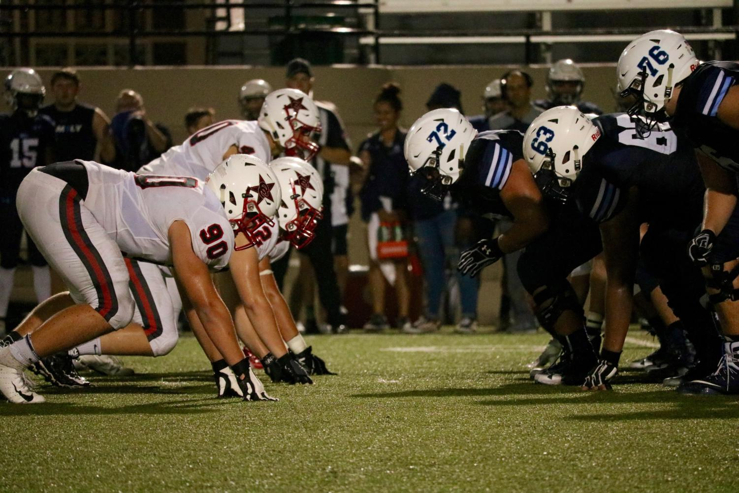 The Coppell Cowboys football team defeated the LD Bell Blue Raiders, 41-7, last Friday at Pennington Field. The Cowboys will play the Allen Eagles tomorrow night at Buddy Echols Field at 7 p.m.