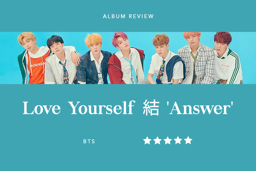 BTS returned to the music scene on Friday, Aug. 24 with the conclusion to their Love Yourself series. The album features hit singles such as 'DNA', 'Fake Love', and 'Mic Drop', as well as nine new songs. Graphic by Kelly Wei.