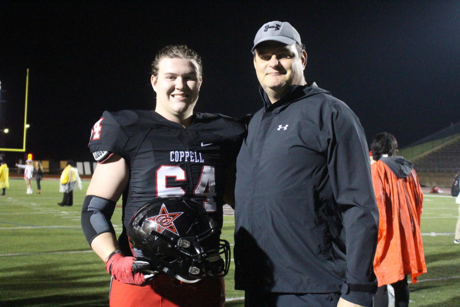 Coppell senior offensive lineman Trevor Stange is following in father's footsteps to play college football at Kansas State. Russ Stange played at Kansas State from 1987 to 1988.