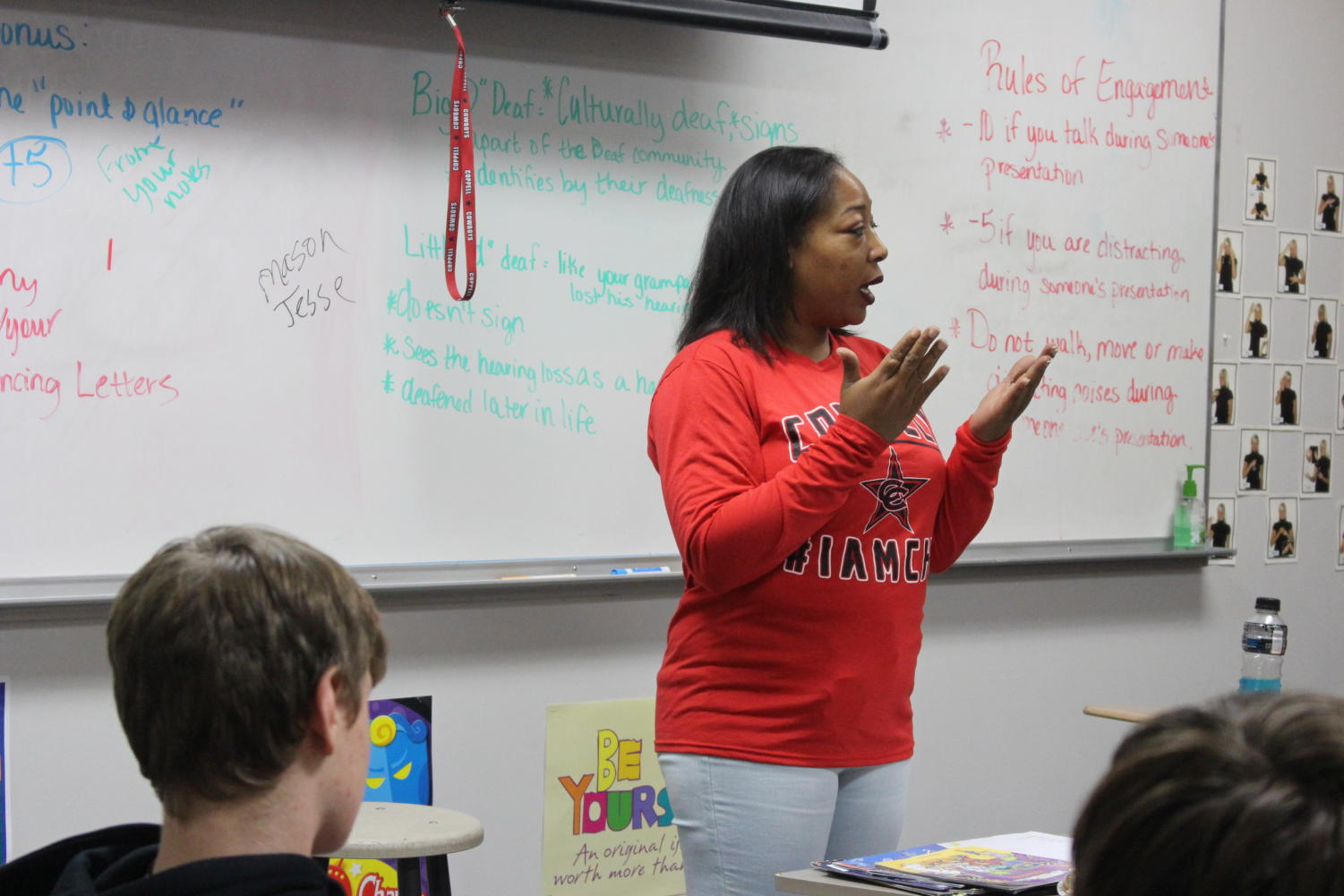 Delosha Payne is the new American Sign Language teacher at Coppell High School. Joining the district has been an exciting experience for her, as she teaches the language she loves and sees students grow in skill in ASL.