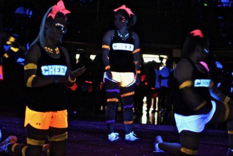 Glow-in-the-dark pep rally illuminates school spirit