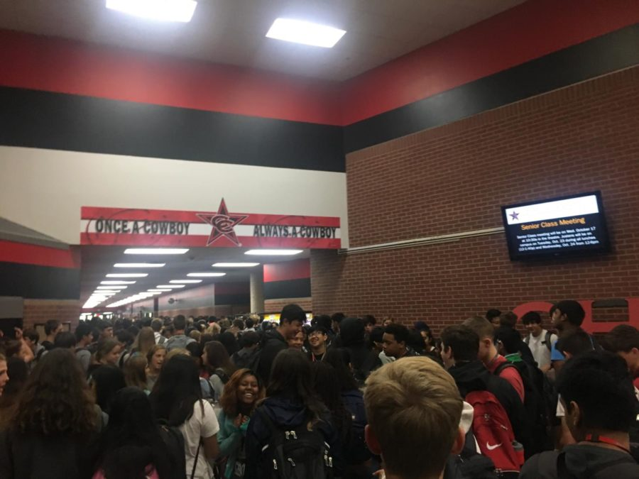 The PSAT/NMSQT (Preliminary SAT/National Merit Scholarship Qualifying Test) is held on Wednesday in the large and small gym as well as classrooms throughout Coppell High School for sophomores and registered juniors, who are required to pay a $17 fee. The test allows testers to receive scholarship opportunities from national programs.