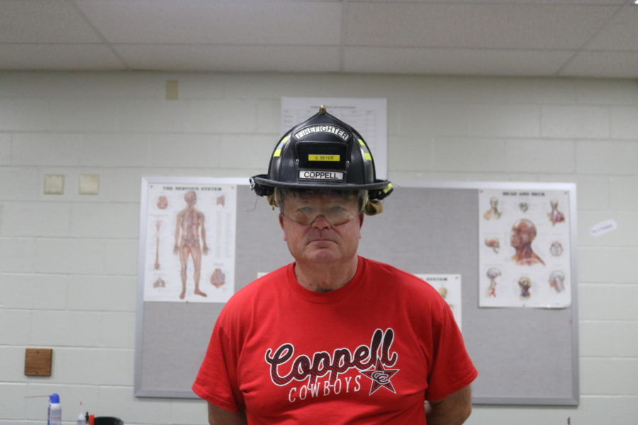 Coppell+High+School+Health+Science+teacher+Gary+Beyer+is+a+former+firefighter+at+the+Coppell+Fire+Department.+Beyer%E2%80%99s+experience+in+health+science+has+since+shaped+his+current+position+as+an+educator.