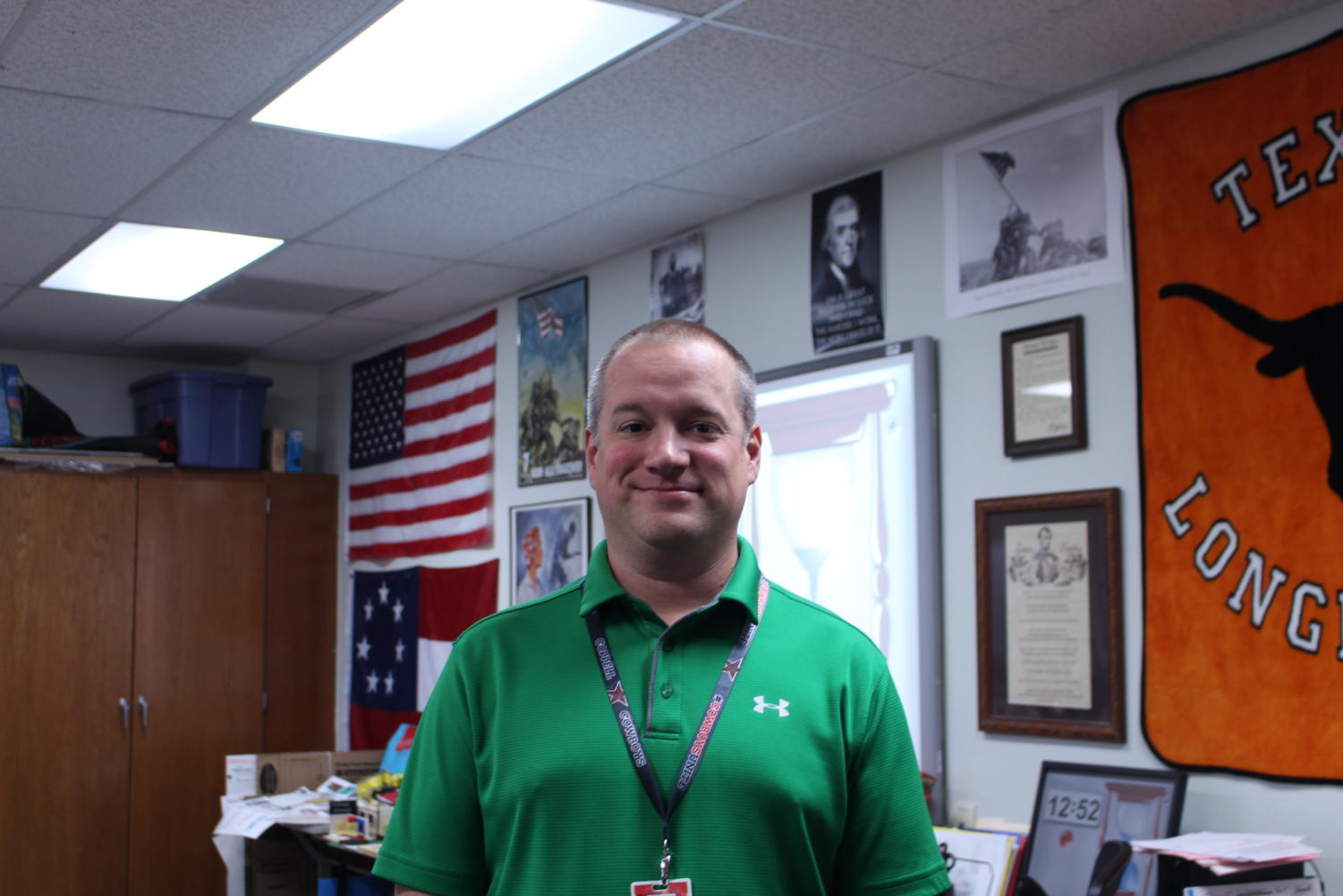 AP United States History teacher Scott Shelby is the December Sidekick Teacher of the Issue. During Shelby's class, he shares his many interactive experiences with his students to help them better understand concepts.
