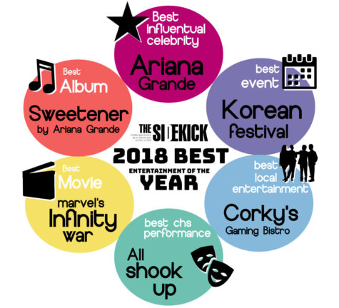 The Sidekick staff has voted on its choices for the best in entertainment this year. There are six different categories.