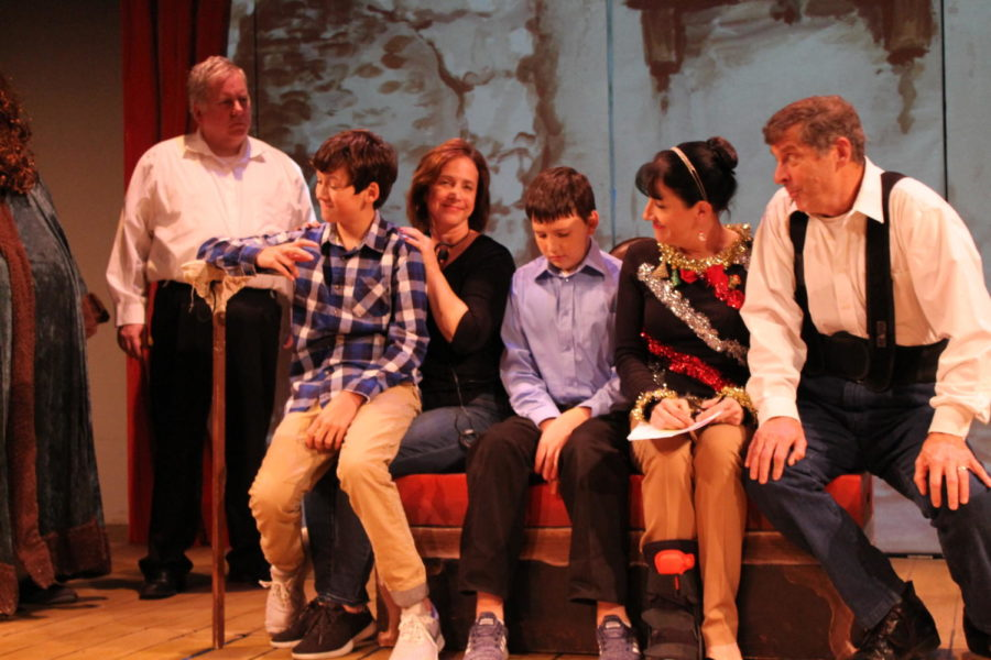 Actors+from+the+Theatre+Coppell%27s+show+%22Inspecting+Carol%22+perform.+The+theater+performs+six+shows+every+year.+