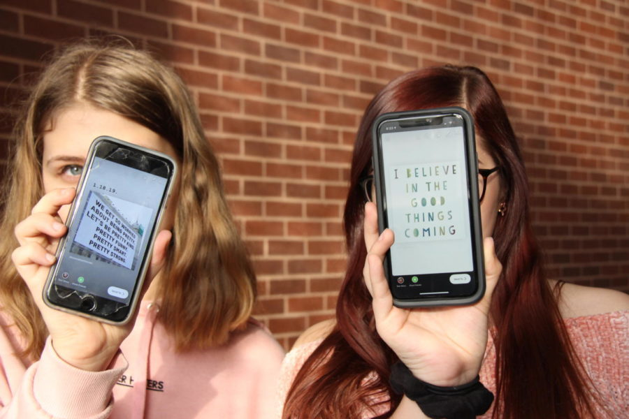 Coppell High School sophomores Natalie Adams and Jordyn Morris post inspirational quotes on their Instagram stories to encourage their peers and followers. Every day, the two friends post at least one inspirational quote or visual to their Instagram accounts, @natalie.michelle_ and @jordynmorris.