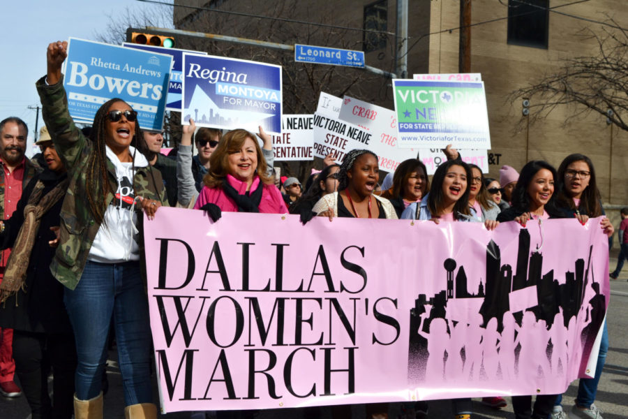 Thousands+of+people+attended+the+independent%2C+grassroots+and+volunteer-driven.+Dallas+Women%27s+March+on+Sunday+to+support+women%27s+rights.+Since+2017%2C+the+parade+has+taken+place+annually+in+Dallas.+%0A