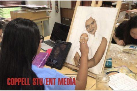 Video: AP drawing students prepare portfolios, enter contests