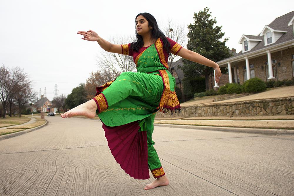 Coppell High School sophomore Shreya Beldona dances to a Kuchipudi classical Indian dance called Brindavana Nilaye. Beldona has been performing classical Indian dance for the past nine years at the Ballet academy in Coppell, Texas.