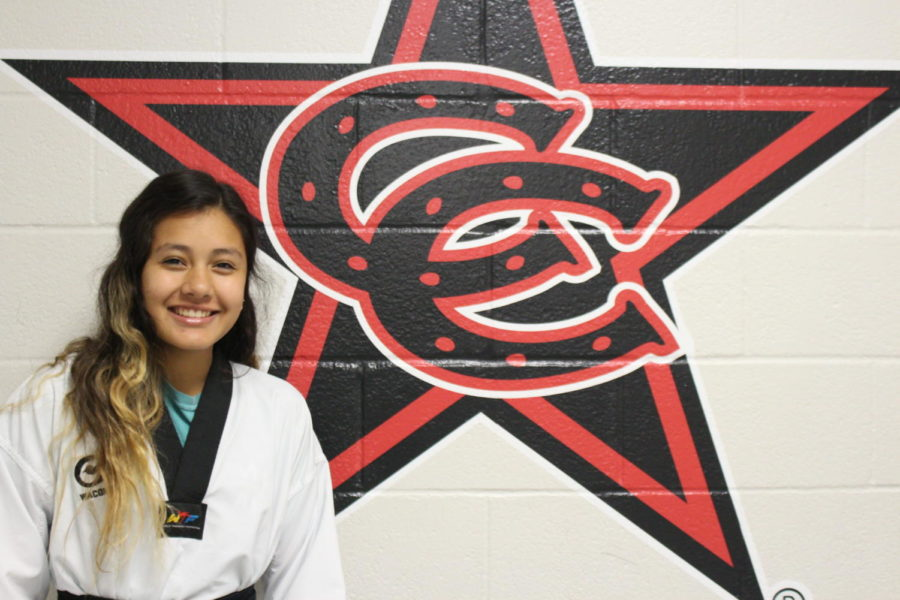Coppell+High+School+sophomore+Jessica+Hayakawa+is+a+highly+skilled+taekwondo+athlete+shown+through+Hayakawa%E2%80%99s+black+belt.+Hayakawa+was+offered+a+spot+on+the+Mexico%E2%80%99s+National+Taekwondo+Team+which+she+has+now+joined.