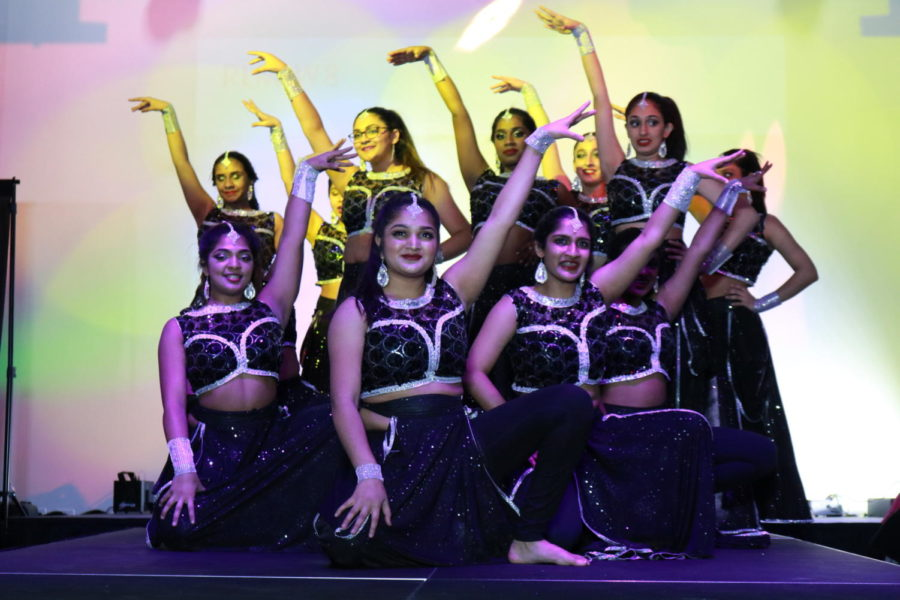 Arya+Dance+Academy+perform+a+dance+called+Bollywood+Dancing+at+Shots+by+Bhavya+1st+Annual+Fashion+at+Ervay+Theater+on+Feb.+10.+Coppell+High+School+senior+Bhavya+Vasireddy+presents+a+cultural+fashion+show+with+designers+in+the+metroplex.