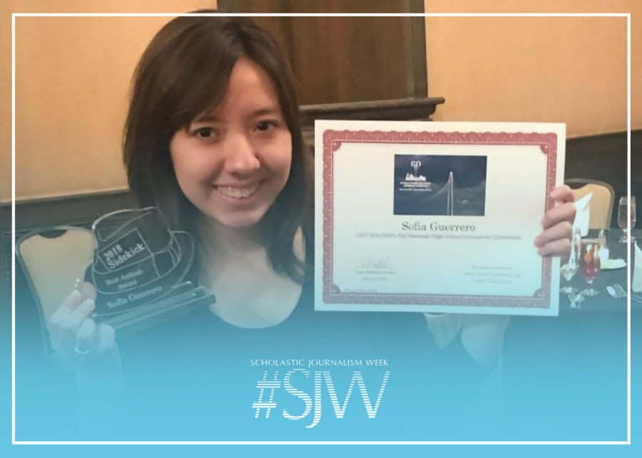 The 2018 Sidekick Awards Dinner is a banquet in which staffers are recognized for their work in the newspaper. The Sidekick co-student life editor Sofía Guerrero writes about what journalism means to her for Scholastic Journalism Week, another opportunity for student journalists to be celebrated.