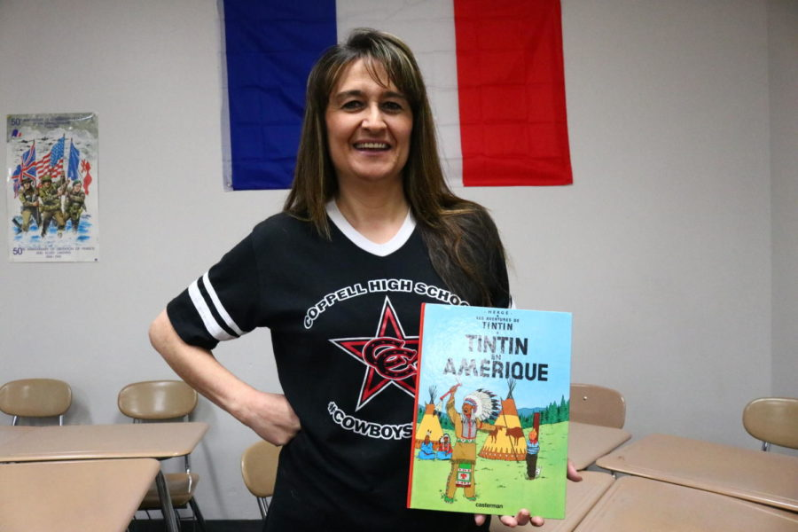 Coppell+High+School+French+teacher+Nathalie+Deines+moved+from+France+15+years+ago+to+pursue+her+dream+of+teaching+fellow+students+her+native+language.+Deines%E2%80%99s+time+in+France+allows+her+to+be+a+more+effective+French+teacher.+