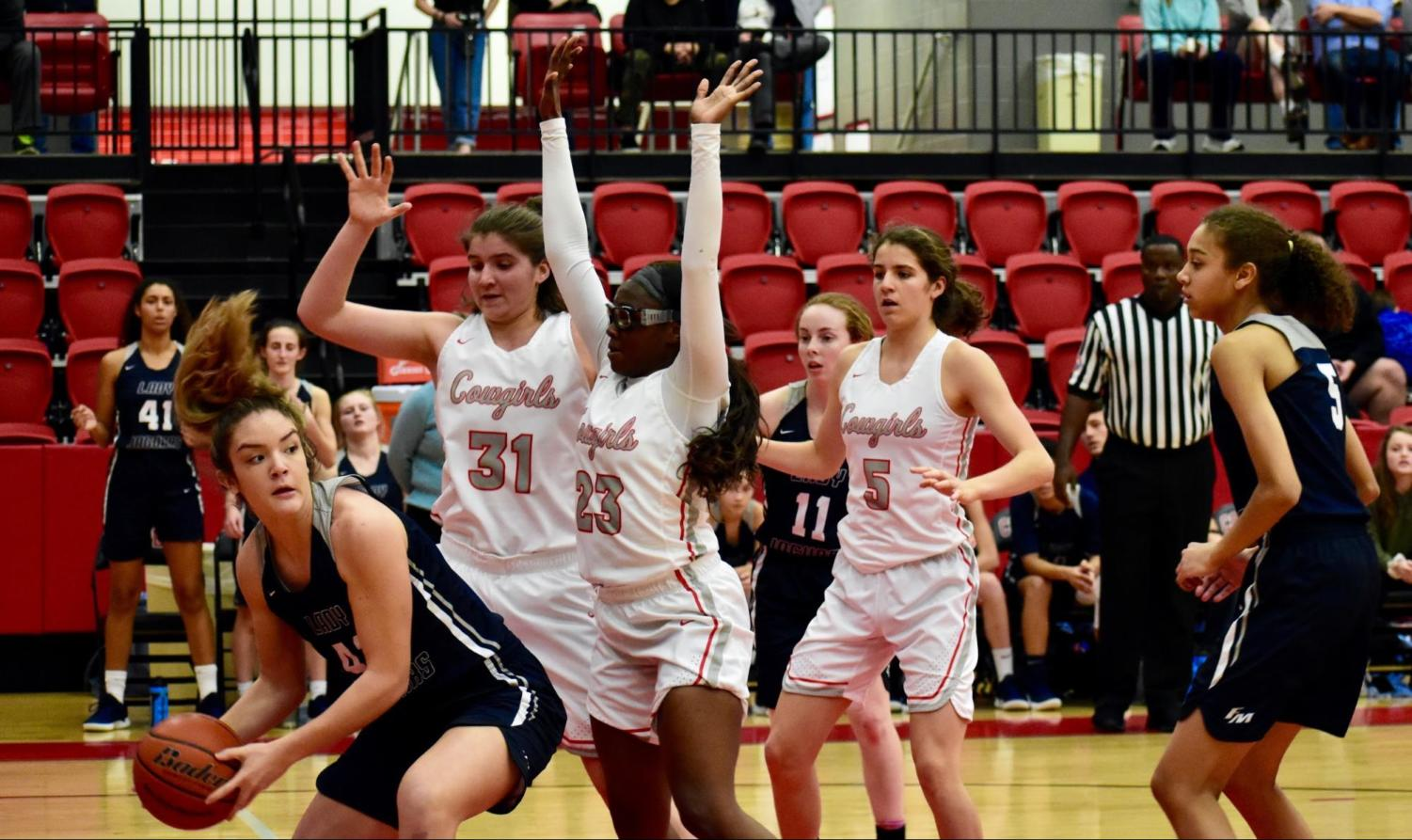 Four players from the Coppell girls basketball team, including senior forward Rowan Hassman (No. 31), junior center Nicole Obialo (No. 23), were named to the District 6-6A All-District first team. Coppell junior guards Jordan Nelson and Kennedi Rogers were named to the second team.