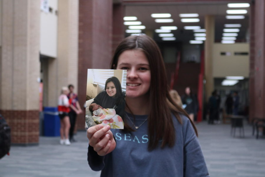 Coppell High School sophomore Sydney Williams recently became an aunt when her older sister, Aubrey Garcia, gave birth to her first daughter, Mila Garcia. Williams' niece was born on Valentine's day and will be two months old this Sunday.