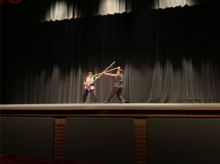 Coppell+High+School+sophomore+Kevin+Ly+and+junior+Tiffany+Ly+perform+a+Kung+Fu+act+at+the+CHS+talent+show+in+the+auditorium+on+Saturday.+The+CHS+talent+show+allowed+students+to+show+off+their+skills+and+win+cash+prizes+by+placing+either+first+%28%24100%29%2C+second+%28%2450%29+or+third+%28%2425%29.