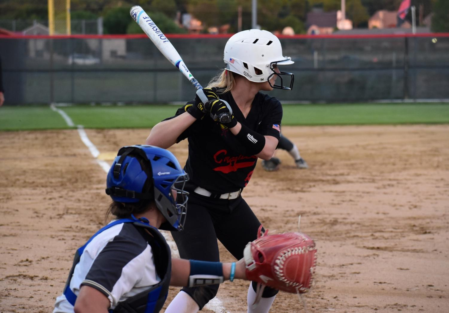 Coppell+senior+third+baseman+Hunter+Handley+focuses+on+the+pitcher+at+the+game+against+Keller+at+the+Colleyville+Heritage+High+School+on+Friday.+The+Cowgirls+lost%2C+5-2%2C+as+their+season+ended+in+the+first+round+of+playoffs.