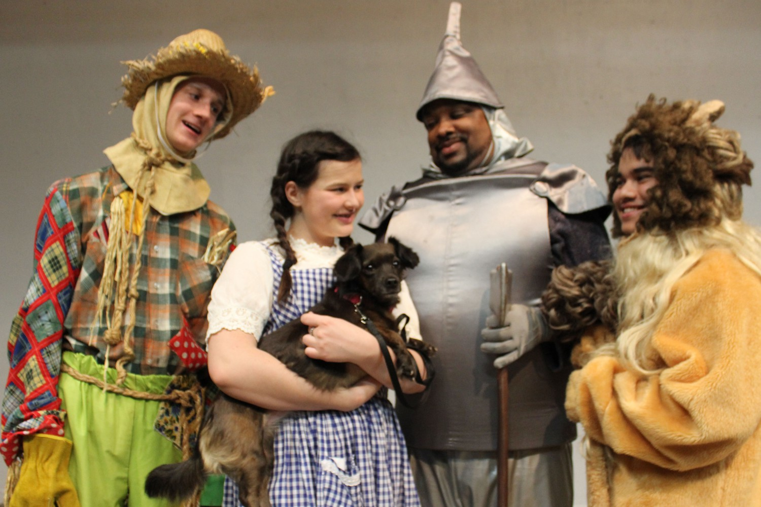"Drew Scrivner, Bella Bollack, Benjamin Bolden and Apat Karmany star in Theatre Coppell's ""The Wizard of Oz"". The show began performing on April 5 and continues through April 21."