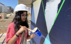 Lacy provides opportunity for aspiring artists through geometric mural