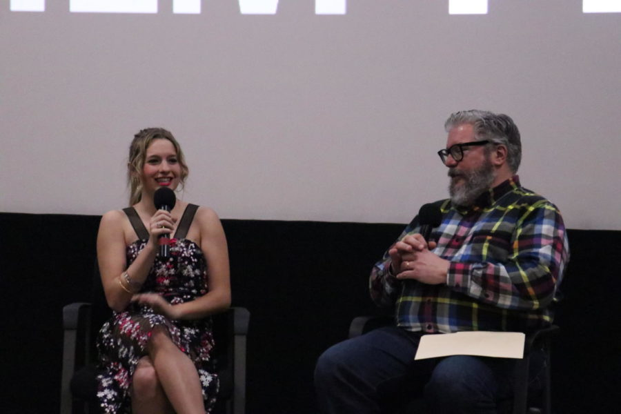 On April 27, Coppell High School 2012 graduate Madison Ford converses with Alonso Duralde about her experience starring in the film Nathan's Kingdom, directed by Olicer J. Muñoz. The film was screened at the Dallas Angelika Film Center & Cafe in appreciation of Autism Awareness Month.