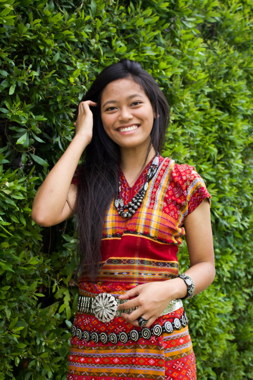 The Sidekick news editor and Coppell High School senior Christine Zacuai wears a traditional and formal Chin outfit, which is usually woven by a loom. Zacuai immigrated to Texas at 2 years old from Hakha, Myanmar.