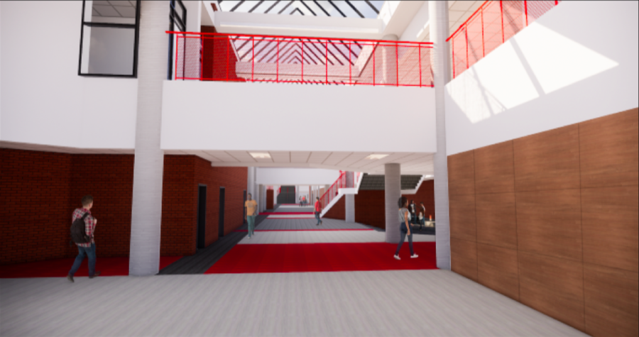 As a part of 2016 bond package deal, Coppell ISD is renovating Coppell High School, which will include tile flooring, LED lights, painting throughout the main corridor of the building. The entire construction is expected to end August 2020.