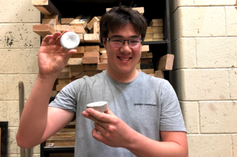 Coppell High School sophomore Ethan Havemann spends his free time creating a variety of objects using wood and metal. One of Havemann's creations was made with recycled aluminum ingots.