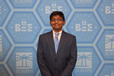 Raja returns to national spelling bee, earns victory in eight-way tie