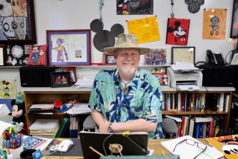 Coppell High School IB History of Americas teacher Kyle Dutton shows his passion for Disney through his decorations around his room. Dutton has been collecting Mickey Mouse mementos since his childhood.
