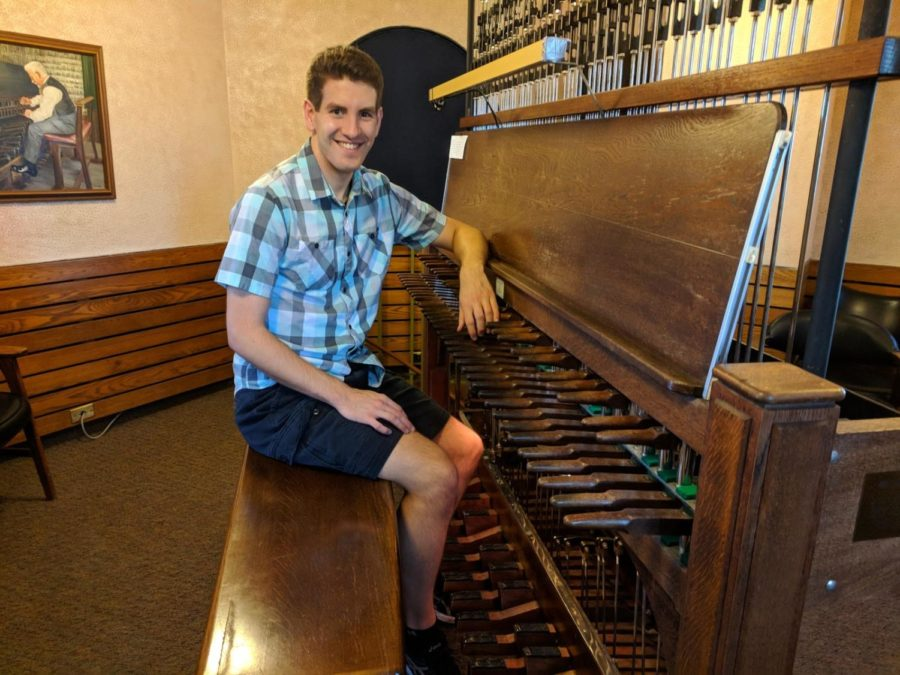 Coppell High School 2015 graduate Alex Johnson won the Queen Fabiola Competition for the carillon. The carillon is an instrument invented in the 16th century composed of at least 23 bells, requiring both hands and feet to play. Photo courtesy Alex Johnson.