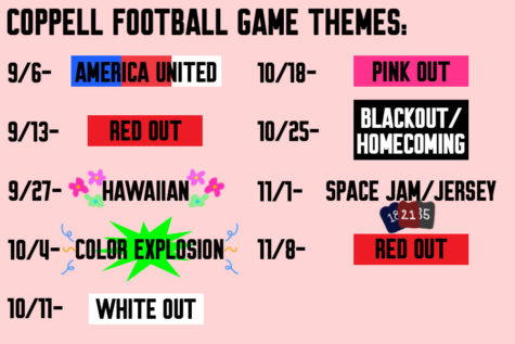 Seniors rally for school spirit with color themes for football games