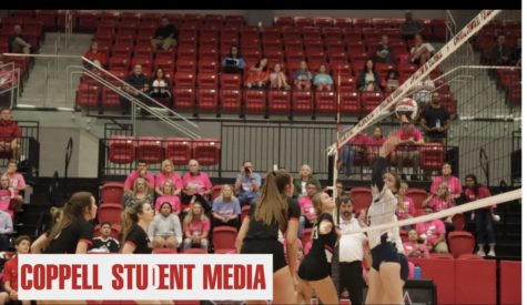 Video: Volleyball takes on district foe Flower Mound