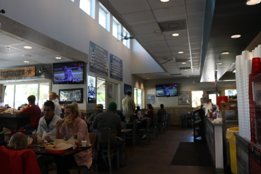 Coppell Deli is a popular Dallas Cowboys themed restaurant in Old Town Coppell. It offers a wide selection of sandwiches and burgers.