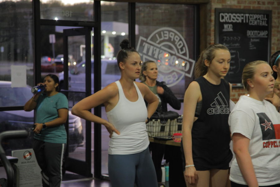 Coppell girls lacrosse coach Logan Hendricks joins Coppell junior Ella Jenkins, New Tech High @ Coppell sophomore Ryley Yeats and her team at 7 p.m. for a CrossFit session. This is Hendricks' first year coaching the Coppell girls team.