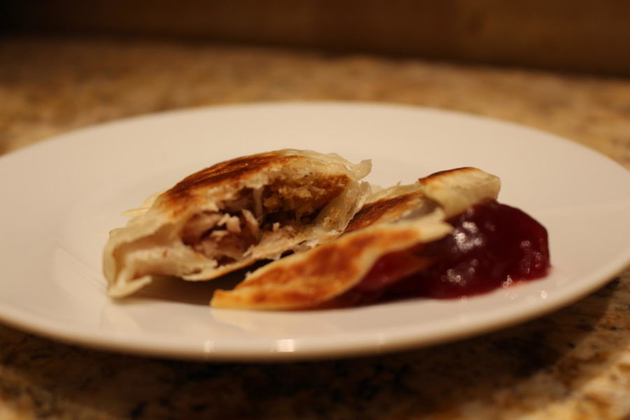 Thanksgiving dumplings are made of leftover Thanksgiving foods. These treats are a great way to enjoy leftovers in a new way. Photo by Lilly Gorman.