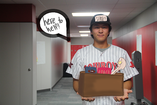 Coppell junior pitcher David Jeon is ready to join his team in helping Coppell High School teachers. The CHS baseball team is using its players to assist teachers by helping them move their belongings and other miscellaneous jobs.