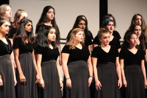Coppell High School choir performs at the 2018 Choir Fall Concert. On Saturday, choir members will perform at the First United Methodist Church in the Region 31 concert.