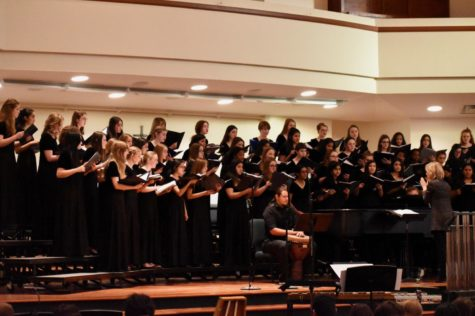 "The TMEA Region 31 Treble choir performs a piece called ""The Composition of a Kiss"" by Padworski during the 2019 All Region Honor Choir concert on Saturday at the Grapevine First United Methodist Church. Parents and friends come to watch and enjoy an evening full of a variety of music sung by each choir."