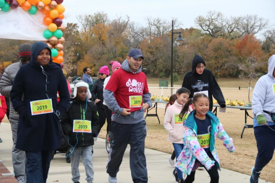 Race participants start the Gobble Wobble Fun Run and 5K on Saturday at Andy Brown Park East. The race is available for participants of all ages to celebrate the Thanksgiving season.