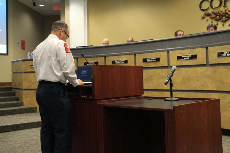 Coppell Fire Chief Kevin Richardson discuss replacing fire engines and considering approval to purchase three 2020 pierce velocity engines through an inter local agreement with Houston Galveston council and fire station 4 project budget. Coppell City Council meetings are regularly held on the second and fourth Tuesday of each month at 7:30 p.m.