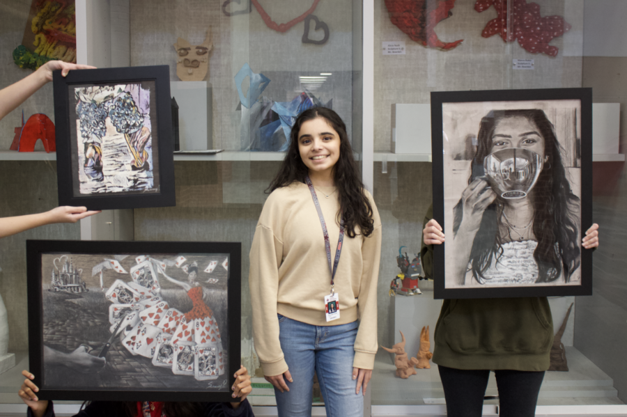 Coppell High School junior Swarangi Potdar uses a variety of mediums to create art. Potdar promotes her art through social media pages and a personal art commissions website.