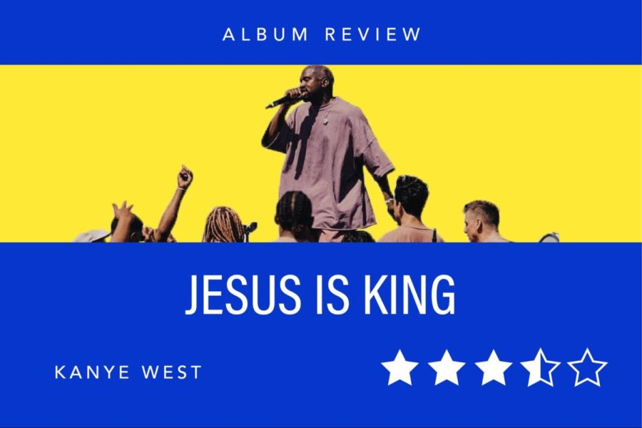 Rapper Kanye West released his album, JESUS IS KING, on Oct. 25. This is his first gospel album, contrasting his eight previous rap albums.
