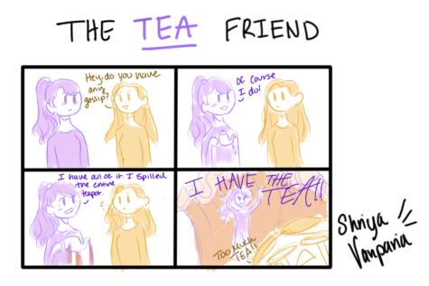 """The Sidekick Strip #15 - """"Type of Friends: The Tea Friend"""""""