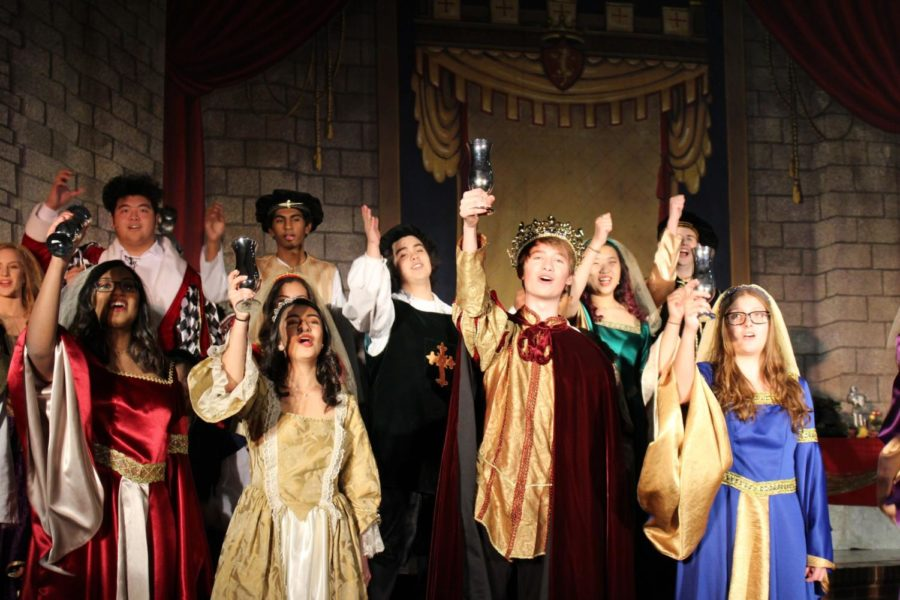 Coppell+High+School+Madrigals+choir+students+perform+during+the+24th+annual+Madrigal+performance+on+Dec.+8%2C+2018+in+the+CHS+Commons.+The+Madrigals+choir+singers+will+be+hosting+their+25th+annual+Madrigals+feast+this+Friday+and+Saturday+night+at+7+p.m.+in+the+CHS+Commons.+