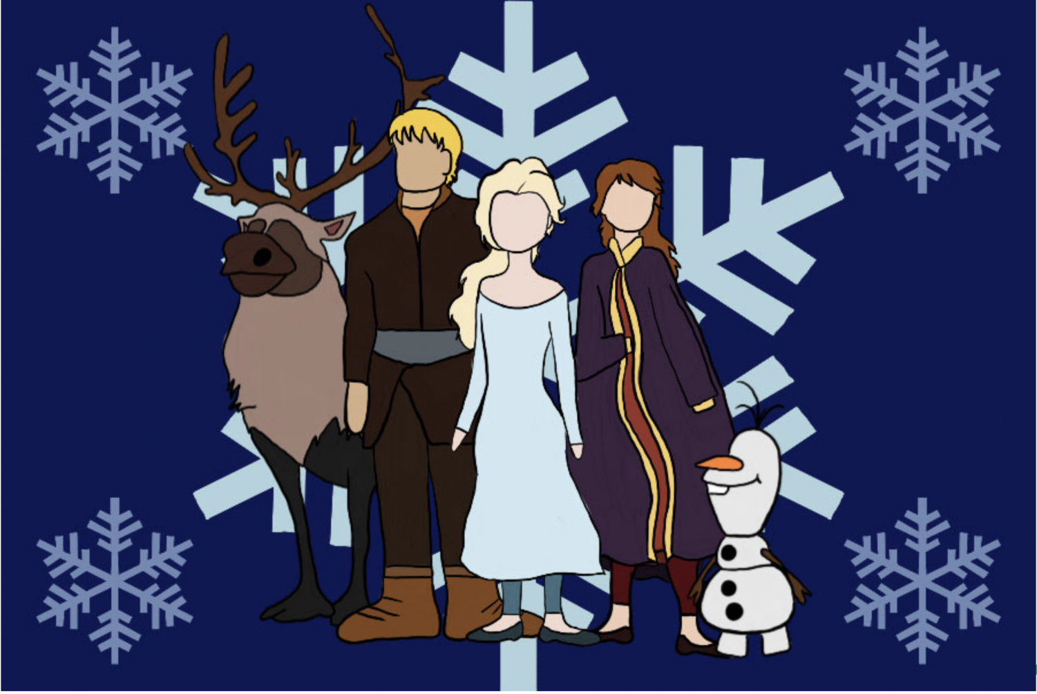 On Nov. 22, Frozen II was released in theaters nationwide. The Sidekick staff writer Victoria Hertel thinks this sequel outshines the 2013 original. Graphic by Bella Mora.