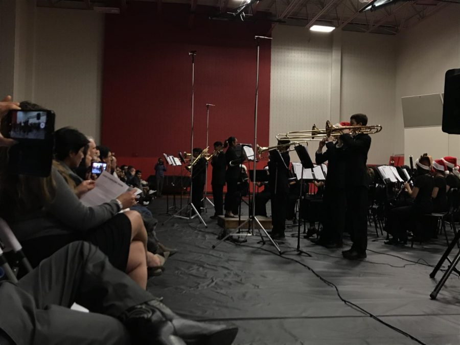 "The Coppell High School freshman Symphonic Band is conducted by Kate Klontz, associate director of CHS9 bands, as it performs ""Trombonanza"" in the CHS gym. ""Trombonanza"" is written by Frank D. Cofield and features the trombone section of the band."