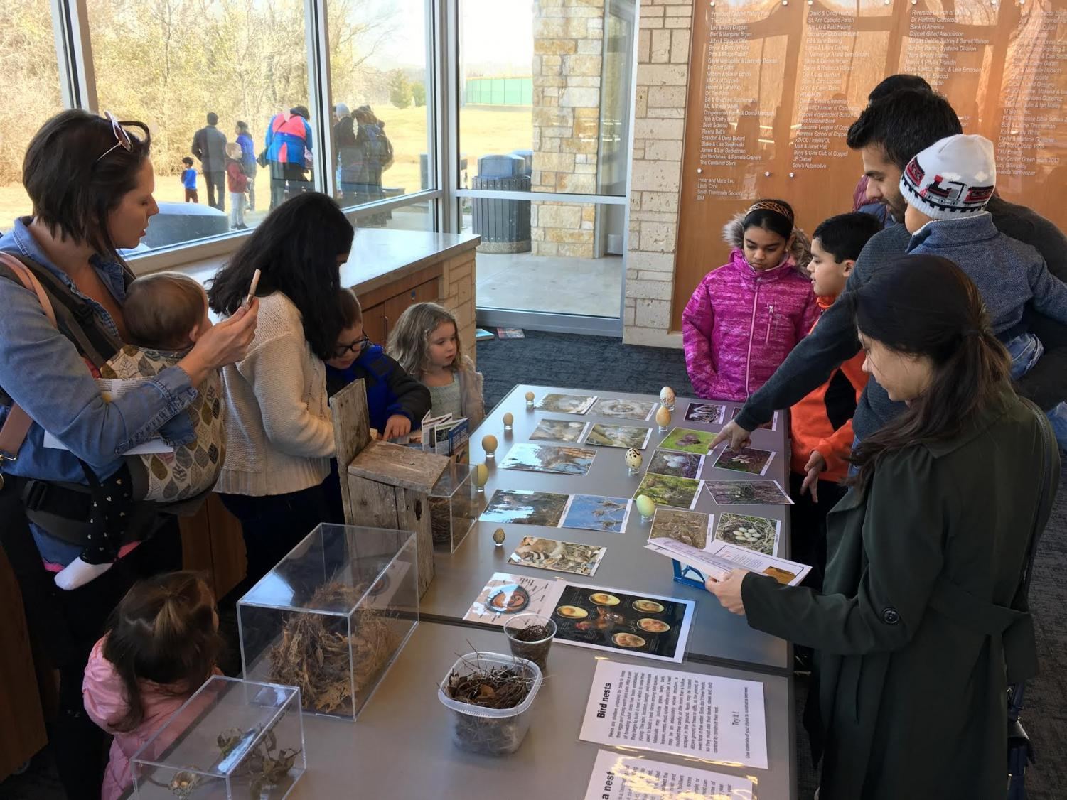 Adults and children learn about various types of birds during the Wild Day: Birds of a Feather event on Jan. 26, 2019 at the Biodiversity Education Center. This year, the Wild Day: Winter Birds event is at the Biodiversity Education Center from 1 p.m. to 3 p.m. tomorrow. Photo courtesy Maura Reed