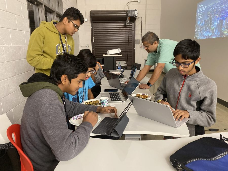 The coding club practices various types of code at CHS9 after school on Friday. The coding club was formed by CHS9 student Mukund Raman and his father, Kalyan Raman, at the beginning of the school year.