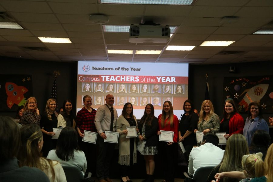Elementary teachers of Coppell ISD received their certificates for being campus Teachers of the Year during the CISD Board Meeting on Monday. New calendar for 2020-21 and 2021-22 school years was approved during the meeting.